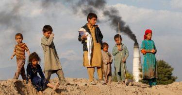 Image of Afghan Poor Children standing